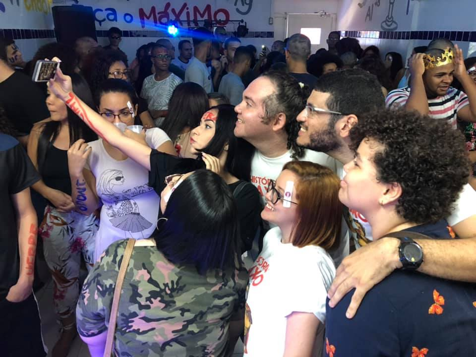 emílio moura vilmar victor festa com os aprovados no enem 2019