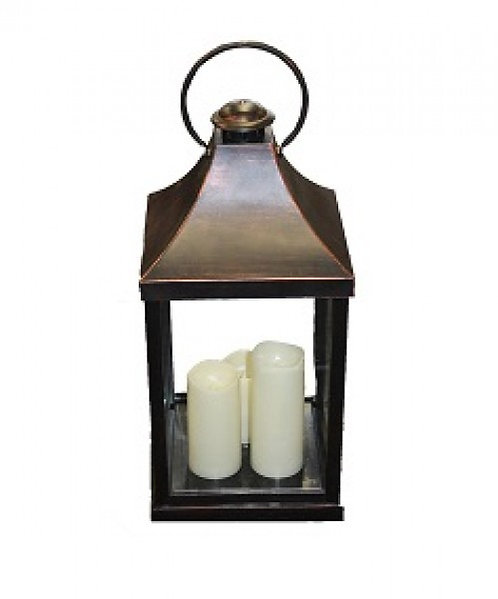 Lanterne à 3 bougies LED
