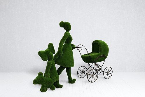Mum with children