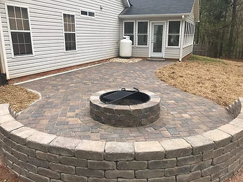 Cumming, GA Paver Patio and Fire Pit