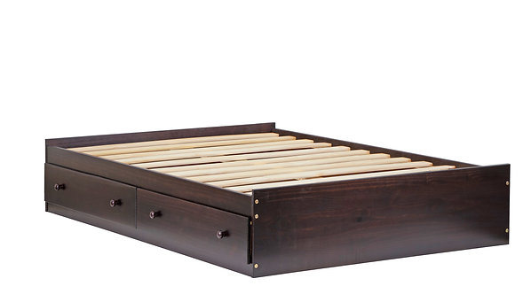 2446 - Full Kansas Mate's Bed W/ Drawers Java