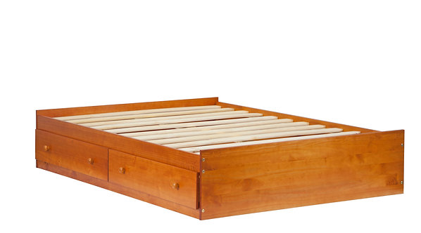Full Kansas Mate's Bed W/ Drawers Honey Pine