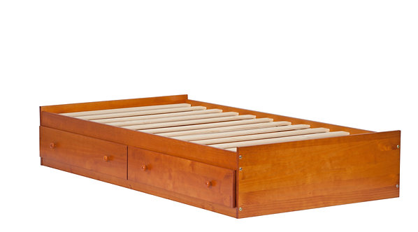 2434 - Twin Kansas Mate's Bed W/ Drawers Honey Pine