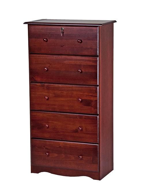 Five Super-Jumbo Drawer Chest - Mahogany