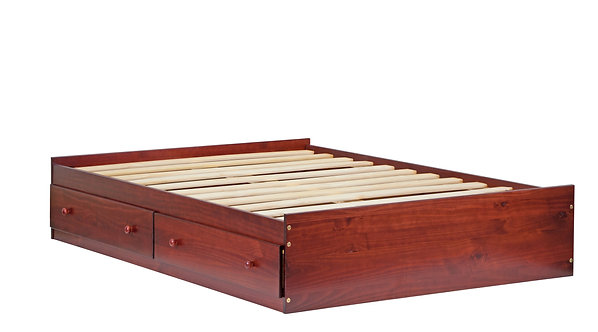 2442 - Full Kansas Mate's Bed W/ Drawers Mahogany