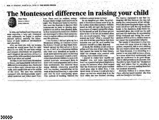 The Montessori Difference in raising your child