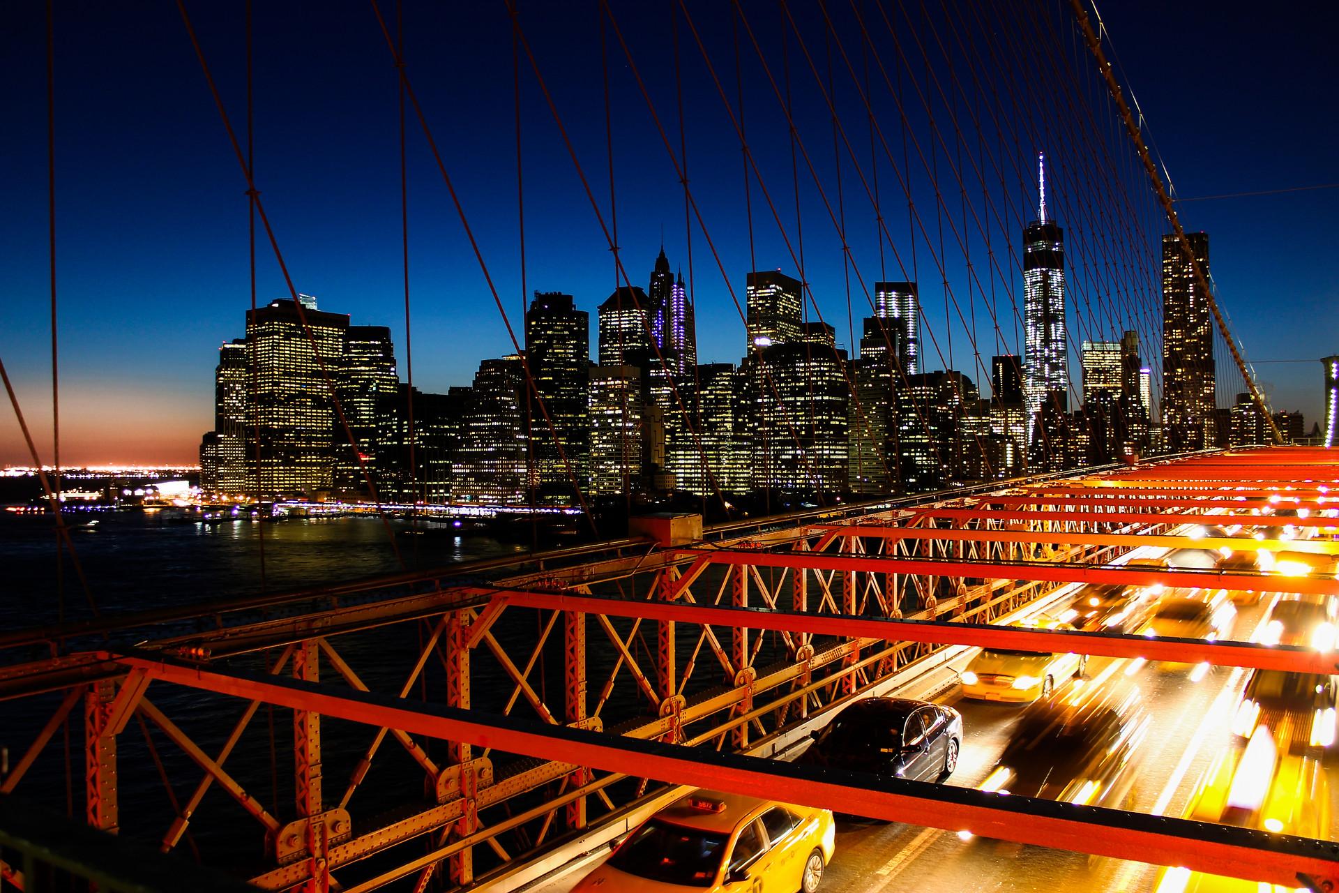 La sky-line de Manhattan, USA.
