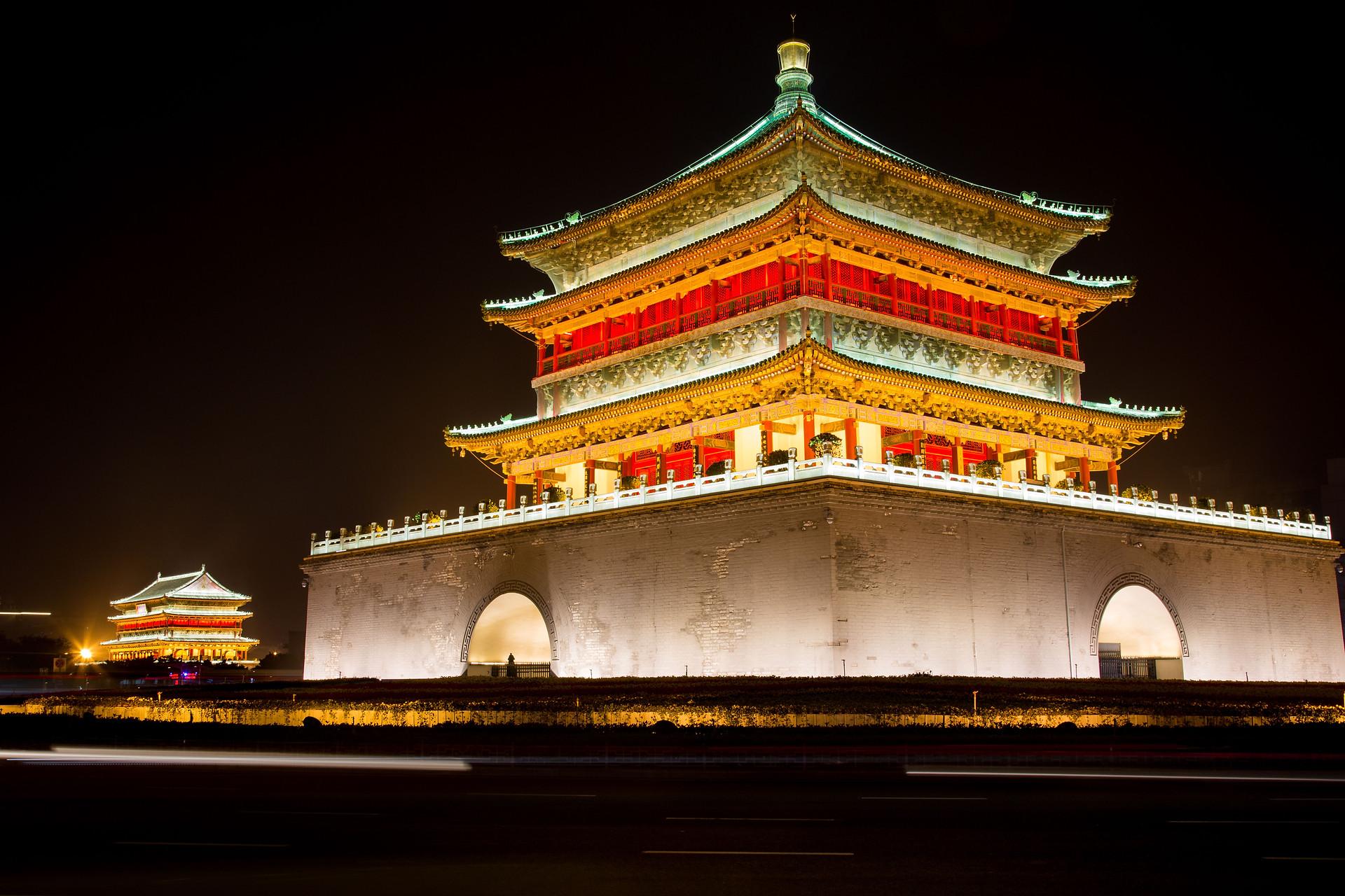 Temples de la ville de Xi'an, Chine.