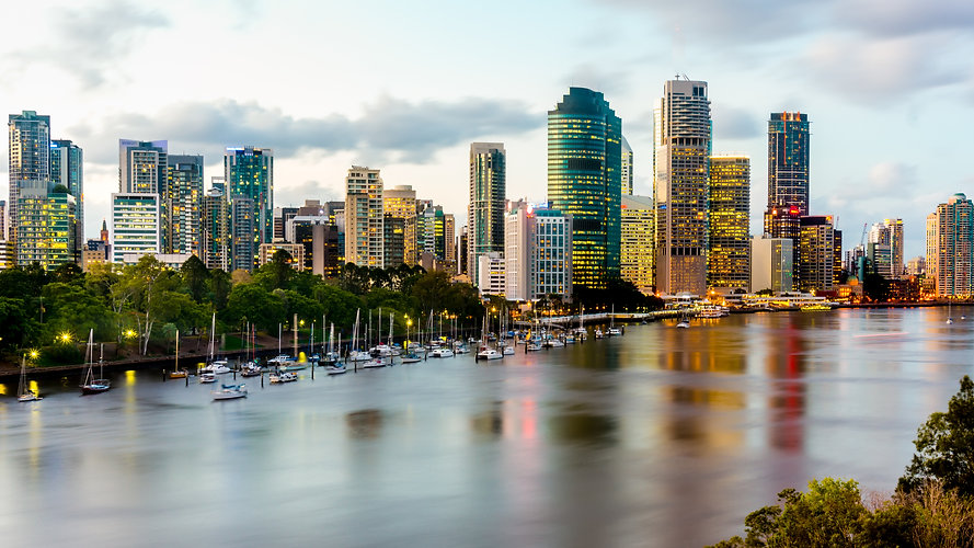 Scenic view of Brisbane River and Citysc