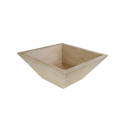 Desert cream square sink bowl spill away