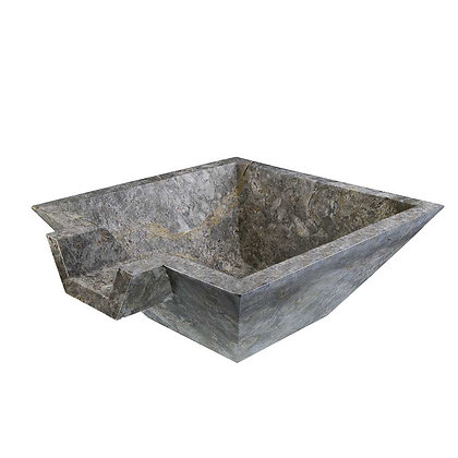 Silver square sink bowl