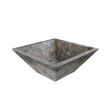 Silver square sink bowl spill away