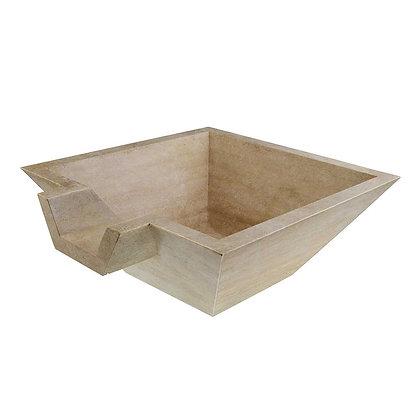 Desert cream square sink bowl
