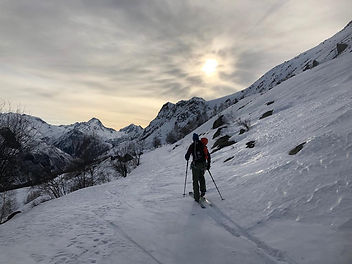 free touring Alpe d'Huez - Oli Sebbar