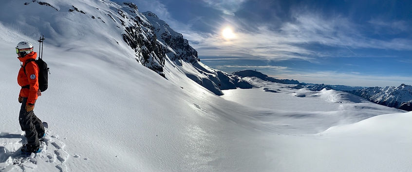 Splitboard guiding alpe d'huez - Oli Sebbar