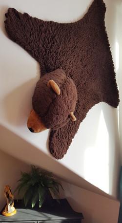 bear rug on wall