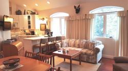 kitchen & living full view