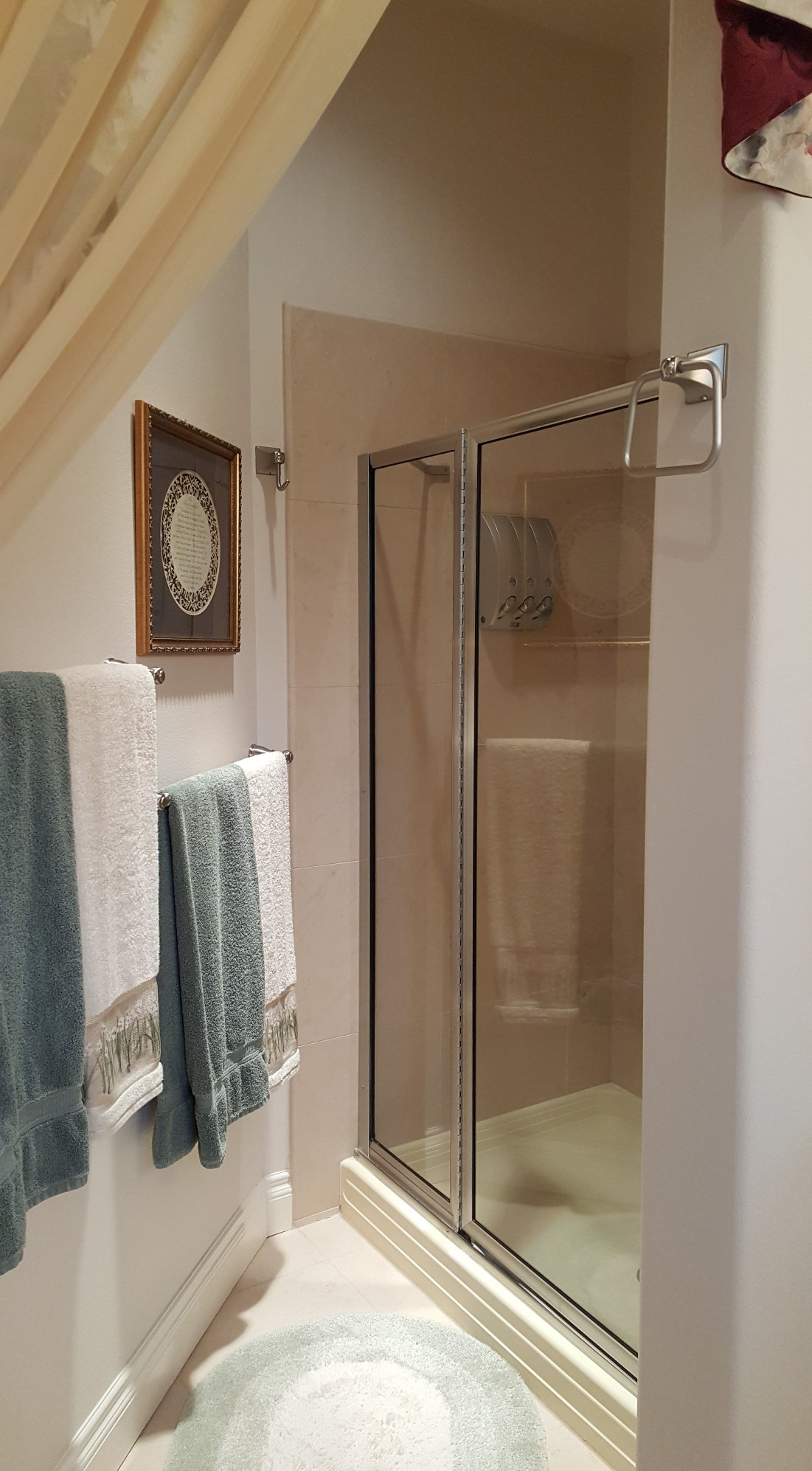shower in optional second bathroom