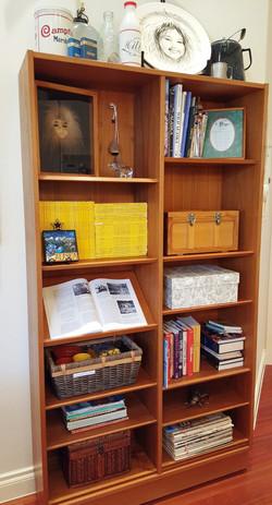 kitchen book shelf