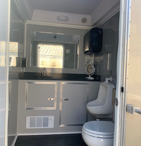 Luxury 2 Stall Restroom Rental