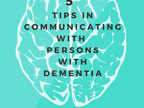 Top 5 tips to communicate with persons with dementia