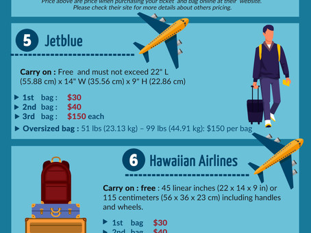 Airlines' Baggage fees