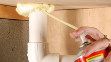 How do you find an air leak in your home?