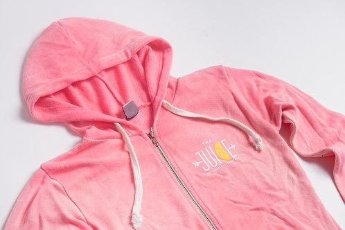 coral zip up hoodie