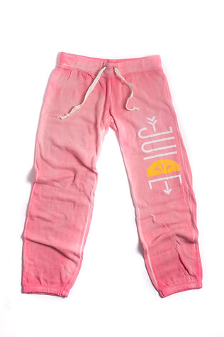 coral sweatpants