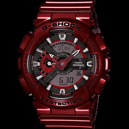 Metallic Red Casio Watch