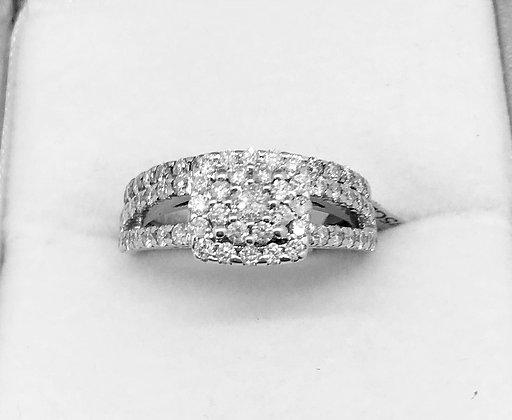 9ct White Gold Diamond Wedding Set