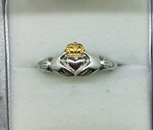 Two Tone Claddagh Ring