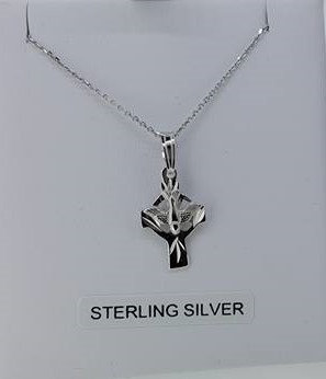Sterling Silver Circular Cross Necklace