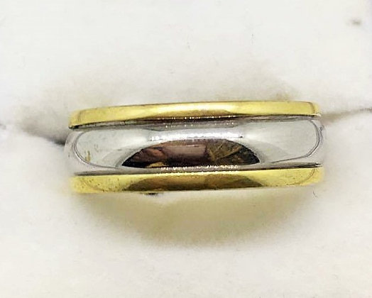 14ct Gold Two Toned Wedding Ring
