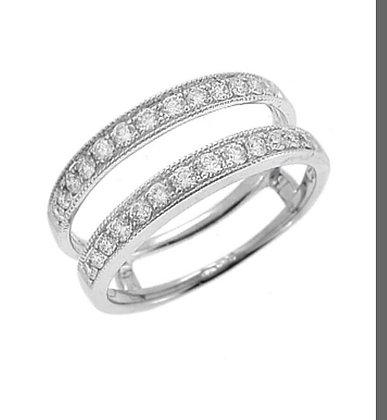 White Gold Diamond Keeper Ring