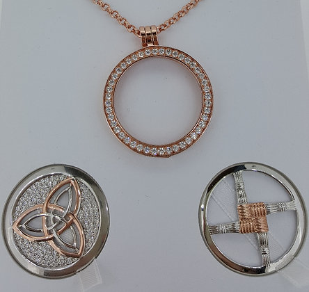 Cristallo Caílín Rose Gold Plated Pendant Set