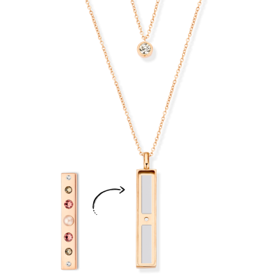 Rose Gold Sparkle Necklace Without Bar
