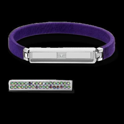Boho Purple and Silver Bracelet Without Bar