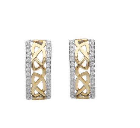 Celtic Sterling Silver Gold Plated Earrings