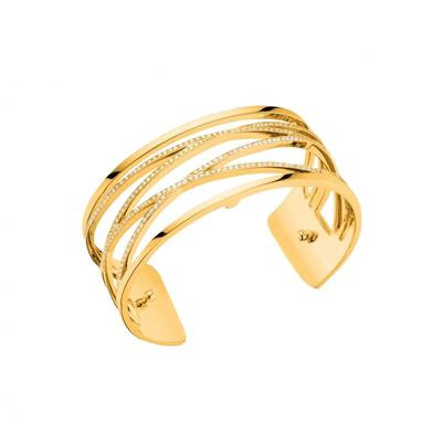 Les Georgettes Gold CZ Liens Medium Cuff