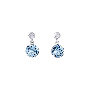 Earrings Swarovski Crystals & stainless steel aqua - blue