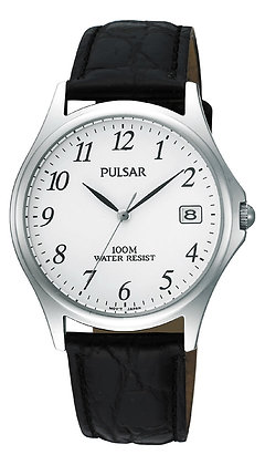 Black Leather Pulsar Watch