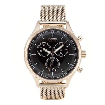 Hugo Boss Mens Rose Gold Companion Watch