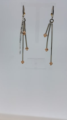 Silver with Gold Couer De Lion Earrings