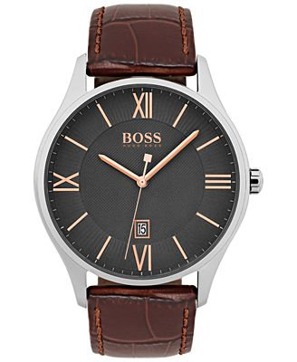 Hugo Boss Governor Men's Watch Brown Leather