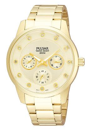 Gold Pulsar Sports Watch