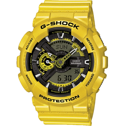 Metallic Yellow Casio Watch