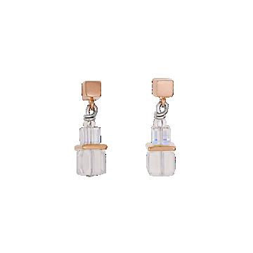 Geo Cube Rose Gold Earrings
