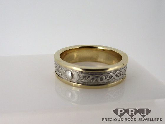 Celtic Gold and Silver Wedding Ring