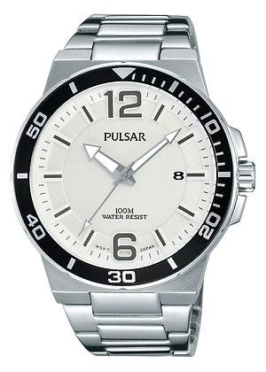 Silver Pulsar Sports Watch